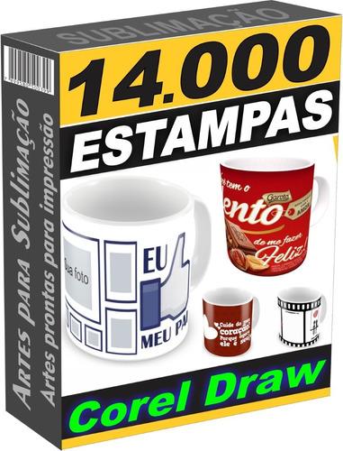 14.000 Canecas Artes P/ Sublimação Corel Pronta P/ Impressão