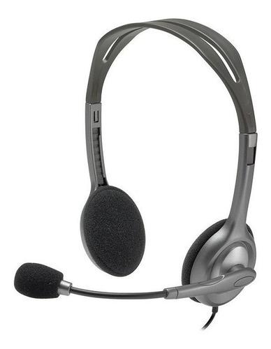 Auriculares Logitech H111 Gris