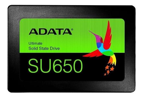 Disco Sólido Ssd Interno Adata Ultimate Su650 Asu650ss-120gt-r 120gb Negro