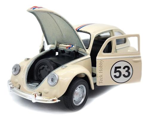 Carro Antigo Fusca Herbie Miniatura Ferr Coleção Escala 1/32
