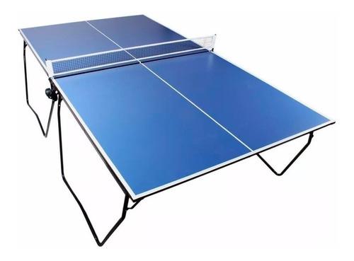 Mesa De Ping Pong Piramydes Global Profesional Plegable Azul