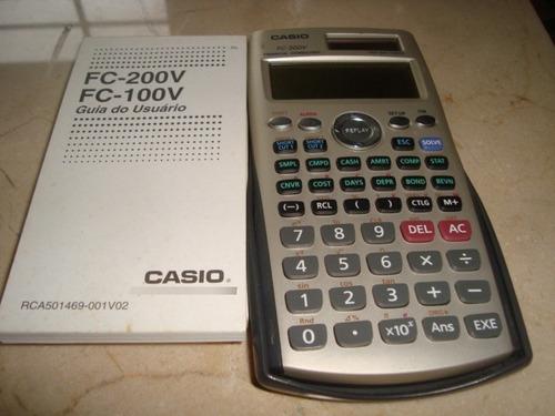 Calculadora Financiera Marca Casio,   Bateria Solar