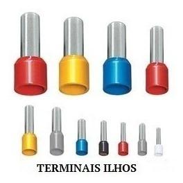 Terminal Tubular Ilhós 10,0mm² C/ 50pçs Original