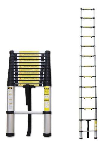 Escada Telescópica Extensiva De Alumínio 13 Degraus 3,8mts