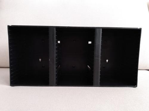 Estante Porta Cd Tripla Modular Para 45 Cds Plástico
