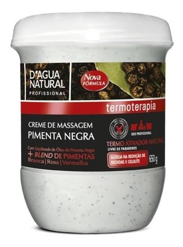 Creme De Massagem Pimenta Negra 650g Dagua Natural
