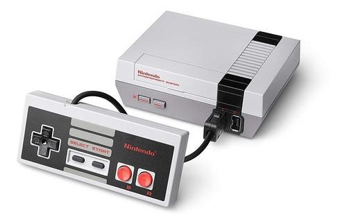 Nintendo Nes Classic Mini Color  Gris Y Blanco