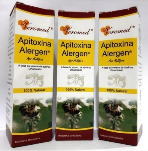 Kit 3 Apitoxina Alergen 30 Ml Veromed Antialérgico Natural