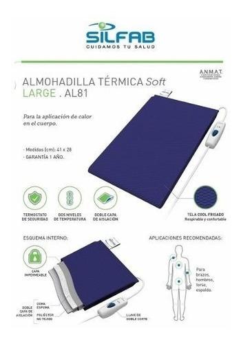 Almohadilla Electrica Silfab Large Brazo Pierna Espalda Al81
