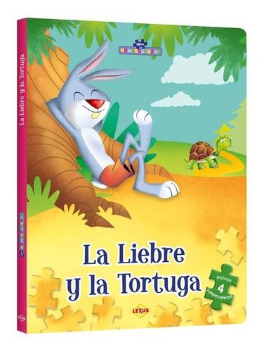 La Liebre Y La Tortuga + El León Y El Ratón Con Rompecabezas
