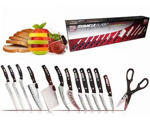 Set De Cuchillos X 13 Piezas Miracle Blade Corte Profesional