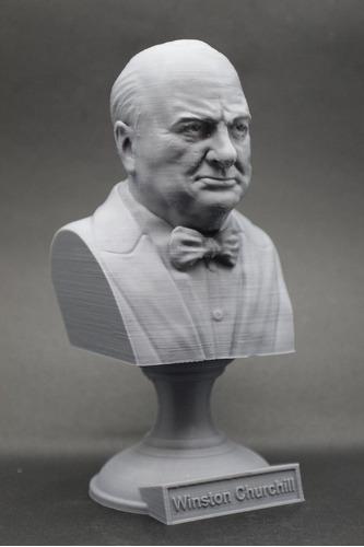 Escultura Busto Winston Churchill Estadista Britânico