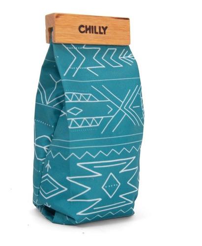 Yerbera De Tela 500 Grs Chilly Diseño Indie