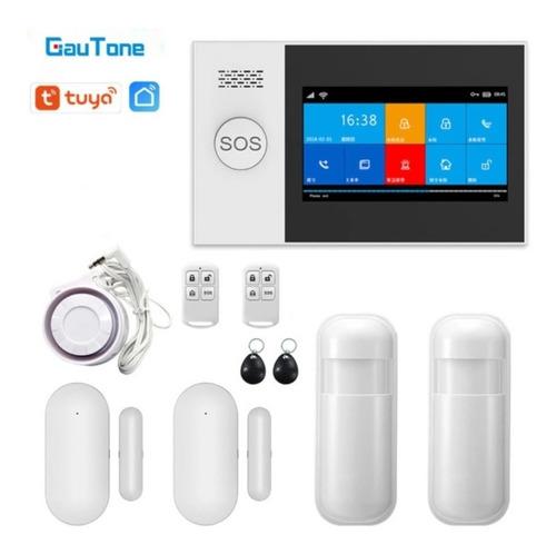 Alarma Casa Local Wifi Gsm Inalámbrica Táctil 4 Sensores