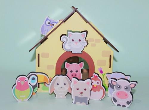 Passa Figuras Animais Da Fazenda | Brinquedo Educativo