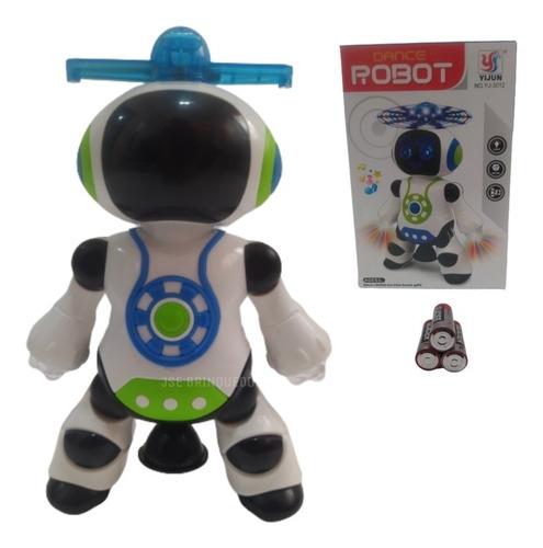 Robô Robot Dance Música,luzes, Dança+pilhas Brinde Panasonic