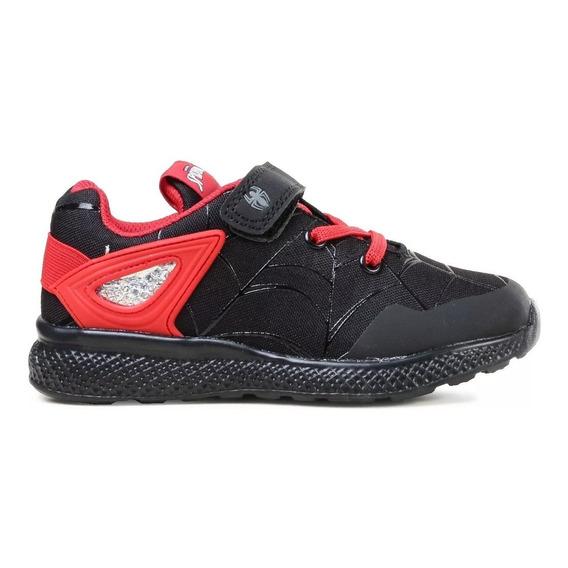 Zapatillas Spiderman Marvel Negras/rojas Fty Calzados
