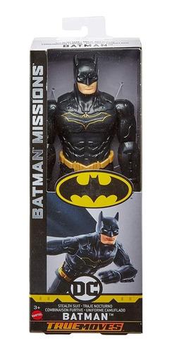 Muñeco Batman Missions Batman Negro 30cm Mattel Original!!