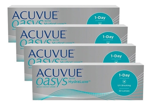 Lentes De Contato Acuvue Oasys 1-day Com Hydraluxe (4 Cxs)