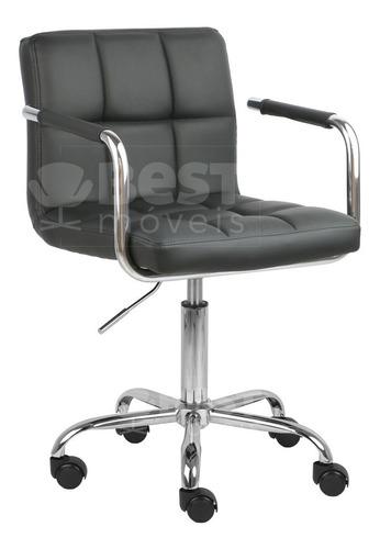Cadeira Turquia Em Corino Estofada Giratória Base Rodizio Pu