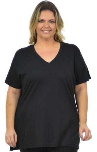 Blusa Gola V Maior Plus Size Fenomenal