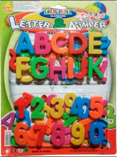 Letras Y Numeros - Imantados Abecedario En Plastico Blister