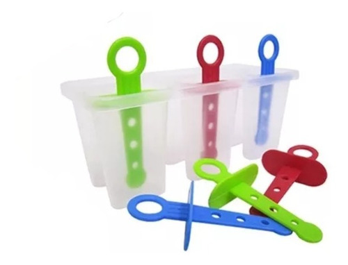 Forma De Plástico Para Picole Sorvete 6 Cavidades 2 Unidades