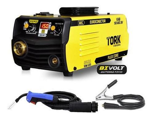 Maquina Solda Inversora Mig Sem Gas Kab 150 Mig Euroconector