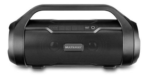 Alto-falante Multilaser Super Bazooka Portátil Com Bluetooth Preto E Prata