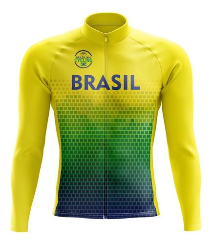 Camisa Ciclismo Brasil *manga Longa*