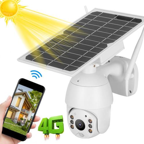 Cámara Inteligente De Energía Solar 4g Alerta Ptz Ip66 Imper