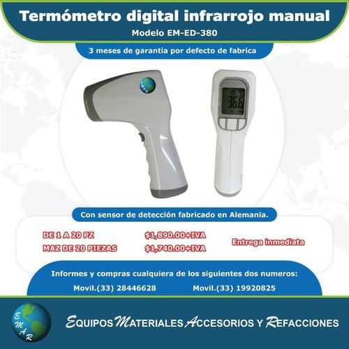 Termómetro Digital Infrarrojo Manual Modelo Em-ed-380