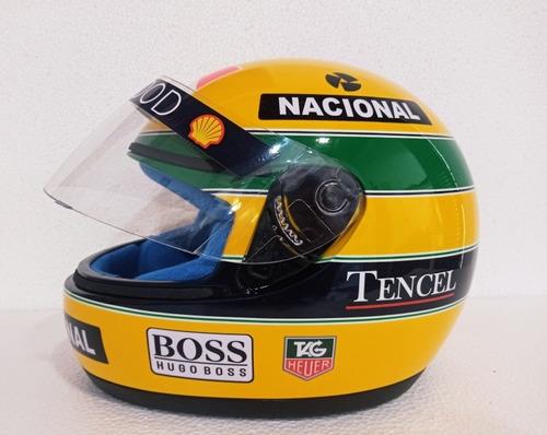 Capacete Ayrton Senna 93 Com Forro Azul