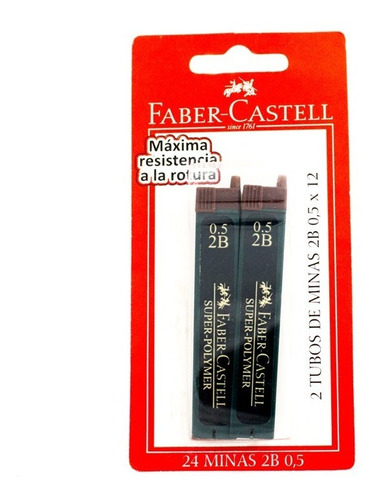 Minas Portaminas 0.5 2b X 2 Unid. Faber Castell