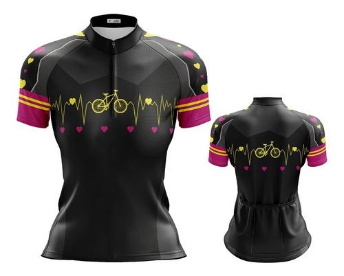 Camisa Feminino Ciclismo Roupa Ciclista Camiseta Mtb Bike