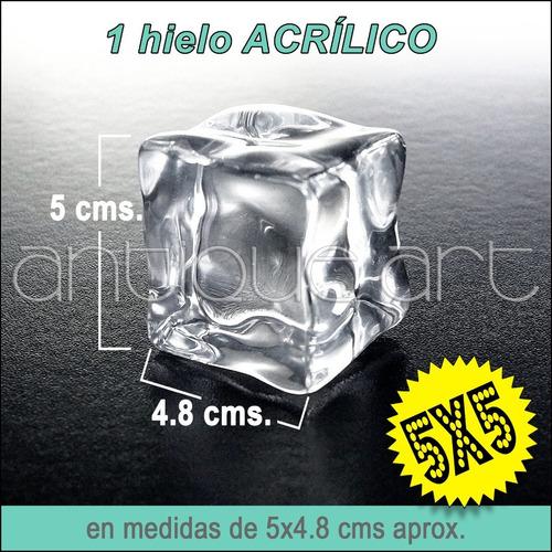 A64 Cubo Hielo Acrilico Super Grande 5x5 Foto Video Ice Cube