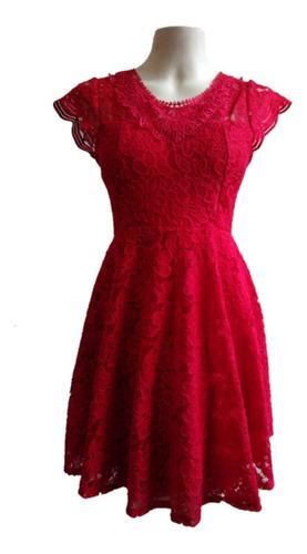 Vestido Renda Vermelho Festa