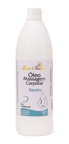Óleo Massagem Corporal  Neutro 1 L  Lírio Branco