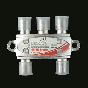 Splitter Divisor Coaxial De 4 Vías Miyako 5-2400 Mhz Calidad