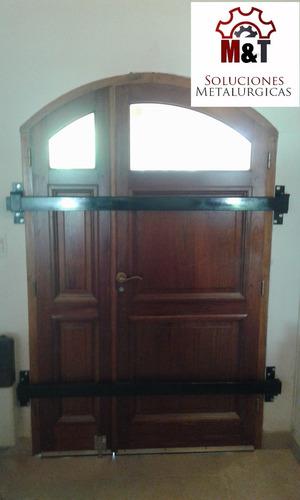 Traba De Seguridad Para Puertas,(tranca Traba Puertas) 1,10m