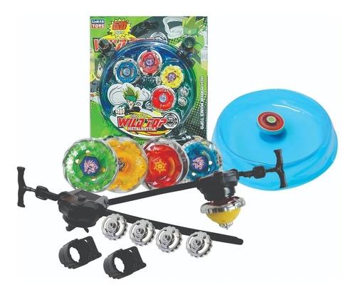 Brinquedo Infantil 4 Bayblade Arena Battle Tornado 5d