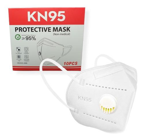 10 Máscara Kn95 Proteção Profissional Com Filtro