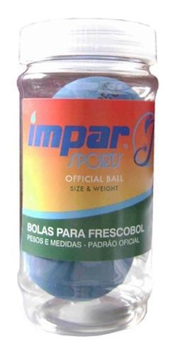 Bola De Frescobol Impar Sports - Kit 2 Bolas Azul