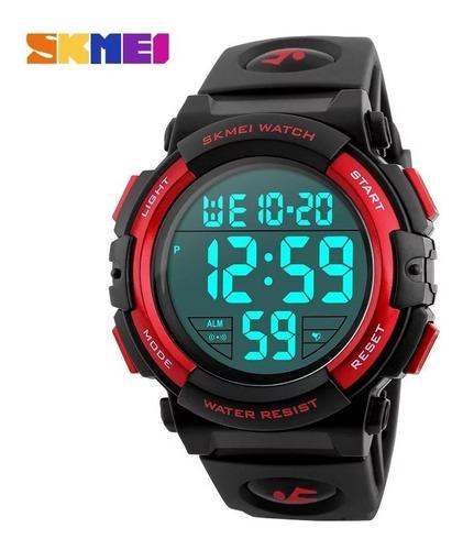 Relógio Masculino Digital Prova D'água Skmei 1258 Vermelho