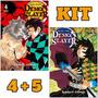 Demon Slayer Vols. 4 5 Kimetsu Kit Panini Mangá Lacrados