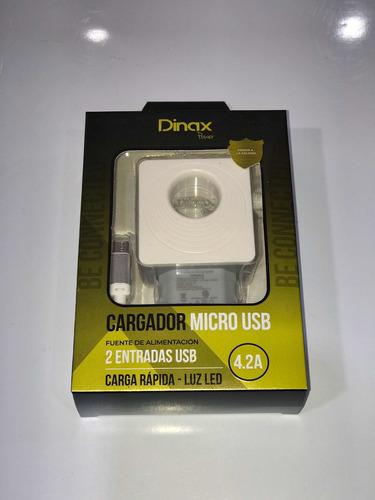 Cargador Micro Usb Dinax 4.2a 2 Entradas Usb Carga Rápida
