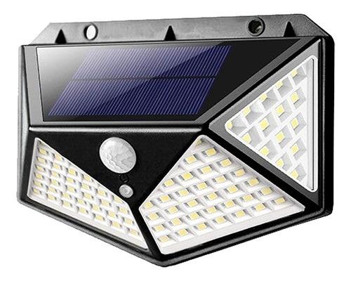 Luminária Solar 100 Led Com Sensor Jardim À Prova D'água Top