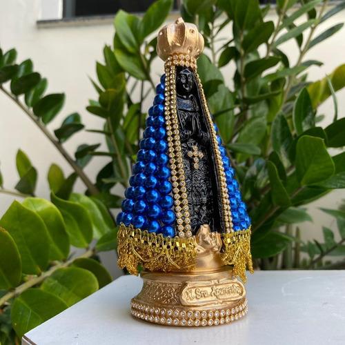 Nossa Senhora Aparecida 18cm Perola Imagem Delicada