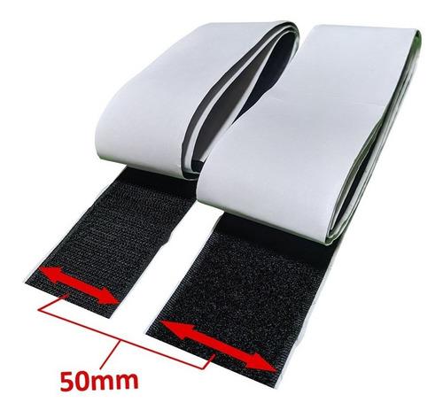 Fita Auto Adesiva Velcro M+f Fixação De Pedais 50mm 1 Metro