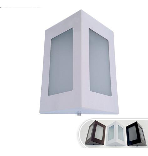 Arandela Triangular Externa Parede Muro Alumínio Vidro St532